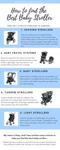 How to find the Best Baby Stroller infographic